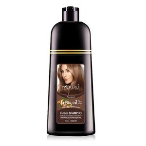 herbal natural hair dye easy hair dye collagen natural vital wine red hair color shampoo Mokeru manufacturer direct sale
