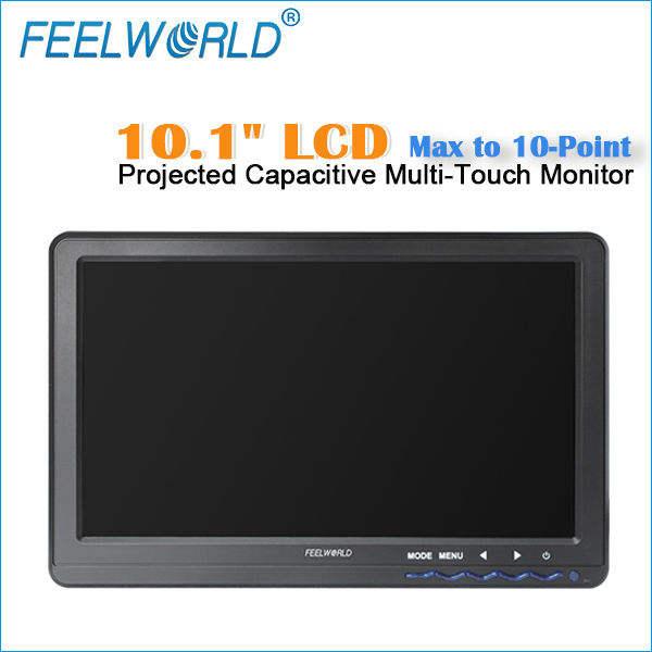 10 pulgadas vga hdmi monitor de pantalla táctil, pantalla táctil capacitiva max a puntos