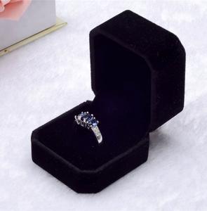 Custom Romantic Sweet Luxury Small Velvet Engagement Ring Box Ring JEWELRI BOX Jewelry Box