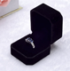 Custom Romantic Sweet Luxury Small Velvet Engagement Ring Box Ring JEWELRI BOX Jewelry Box