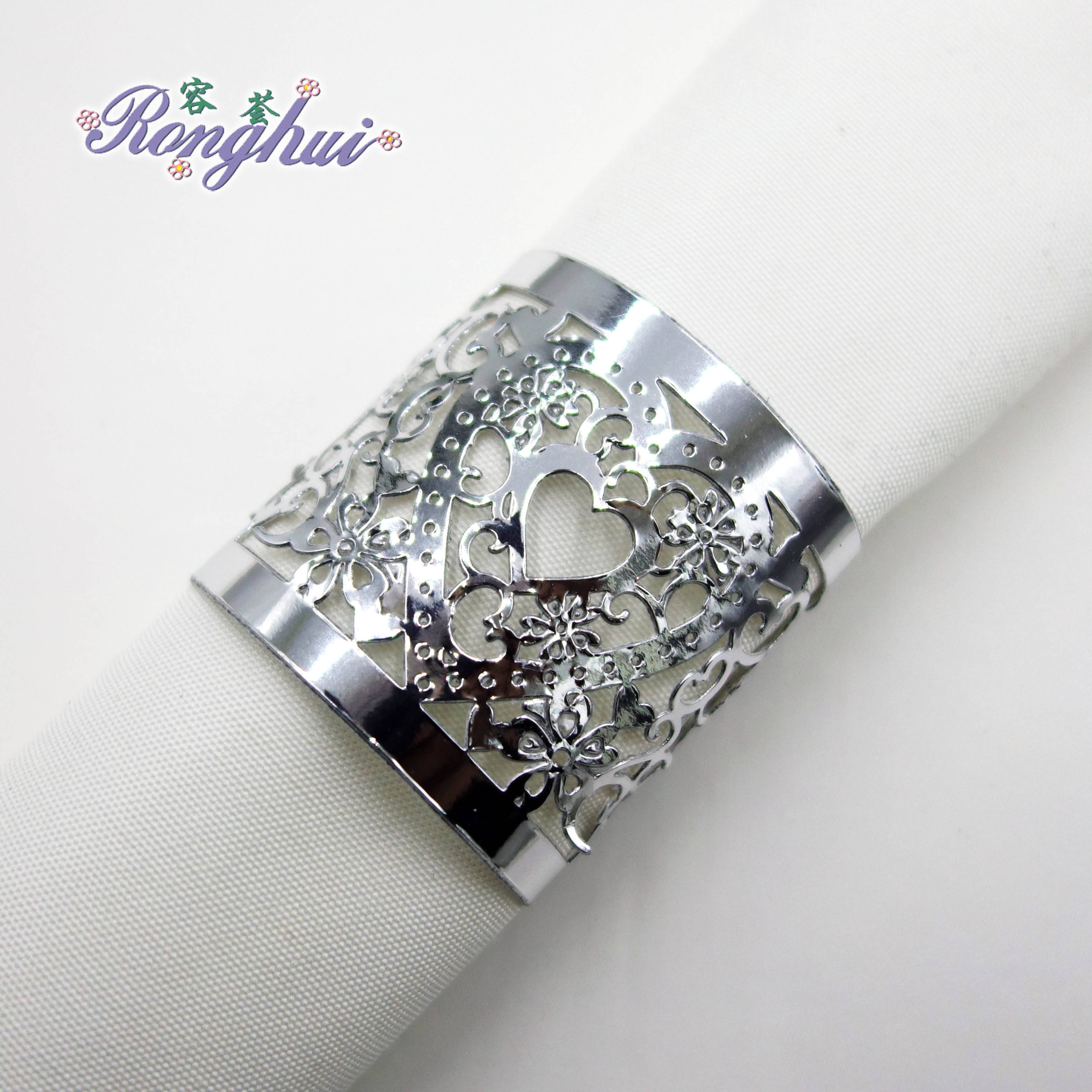 Rhinestone Napkin Rings Butterfly Party Banquet Wedding Linens Inc 6 Pcs Napkin Rings Holders Home Garden
