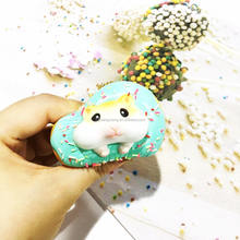 Hot sell  PU foam squishy slow rising soft mini  cute donut food toys gift  for children