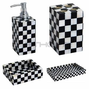 Shell Black Clear Sea Ceramic Accessories Bathroom Set, China Bathroom Accessory Set, Bathroom Set