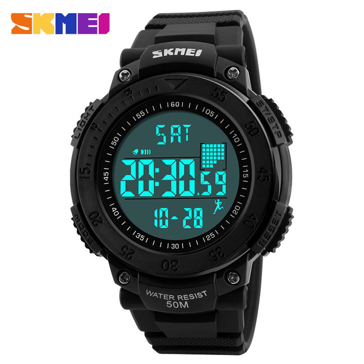 1238 SKMEI Men Pedometer 3D Multifunctional Sports Watches Waterproof Relogio Masculino LED Digital Wristwatches