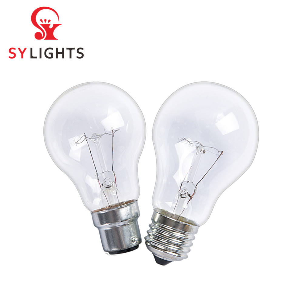 110 v 220 v 130 v Hot koop <span class=keywords><strong>antieke</strong></span> licht clear frosted kleur glas 40 w 60 w 75 w 100 w 150 w 200 w gloeilamp E27 B22 iron base