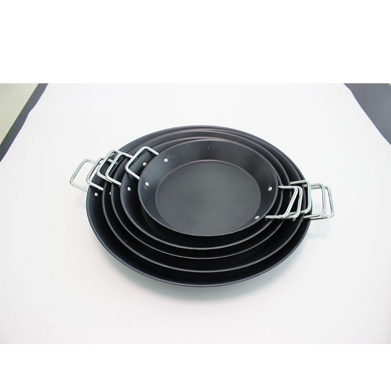 Carbon steel High Quality Disposable Round Spanish Paella Baking Pan CS902