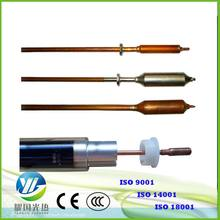 heat pipe solar water heater vacuum tube copper material heat pipe and borosilicate glass evacuated tube