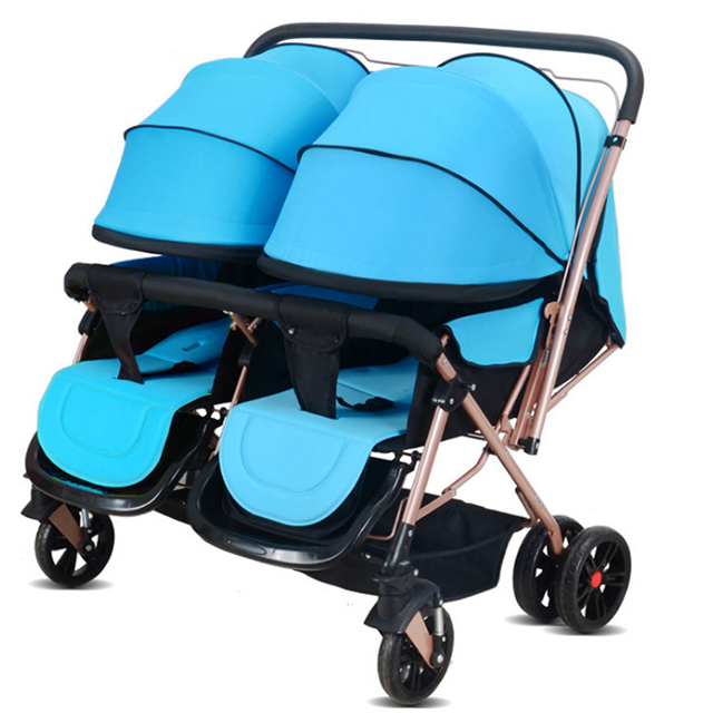 hot selling baby double stroller 2 in 1 baby twin stroller foldable light weight baby stroller