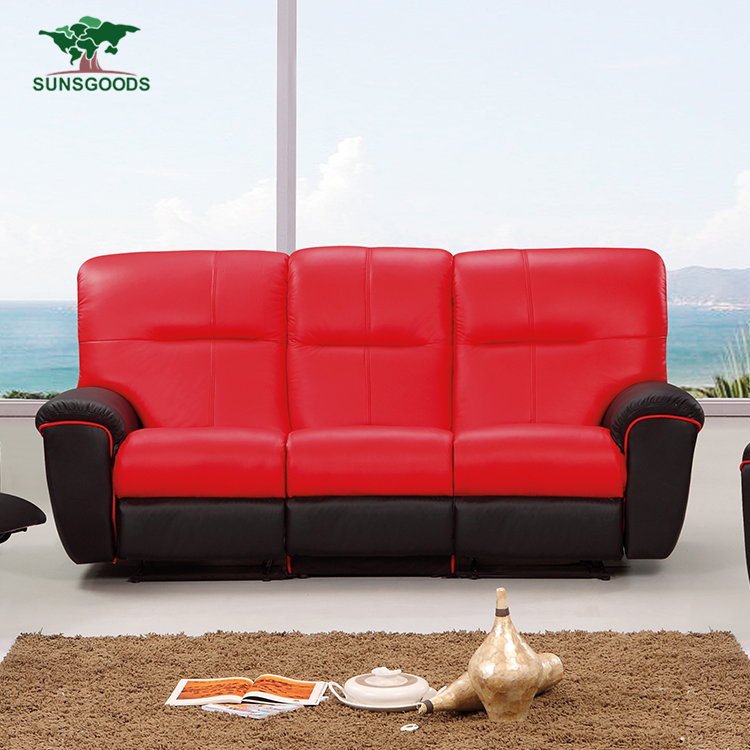 Factory Price Recliner Genuine Leather Modern Sofa,German Sofas