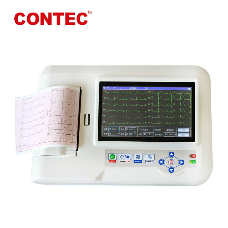 CONTEC CE FDA ECG600G Цифровой Электрокардиограф 3 6 канал 12 приводит ЭКГ цветной ЖК-дисплей