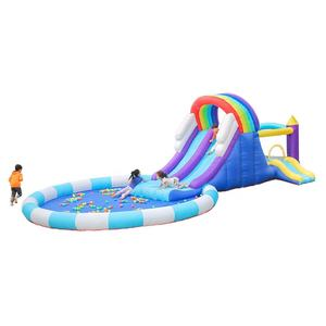 Wholesale Happy Hop Cheap Prices 3 Kids Inflatable Bouncy Castle Water Slides