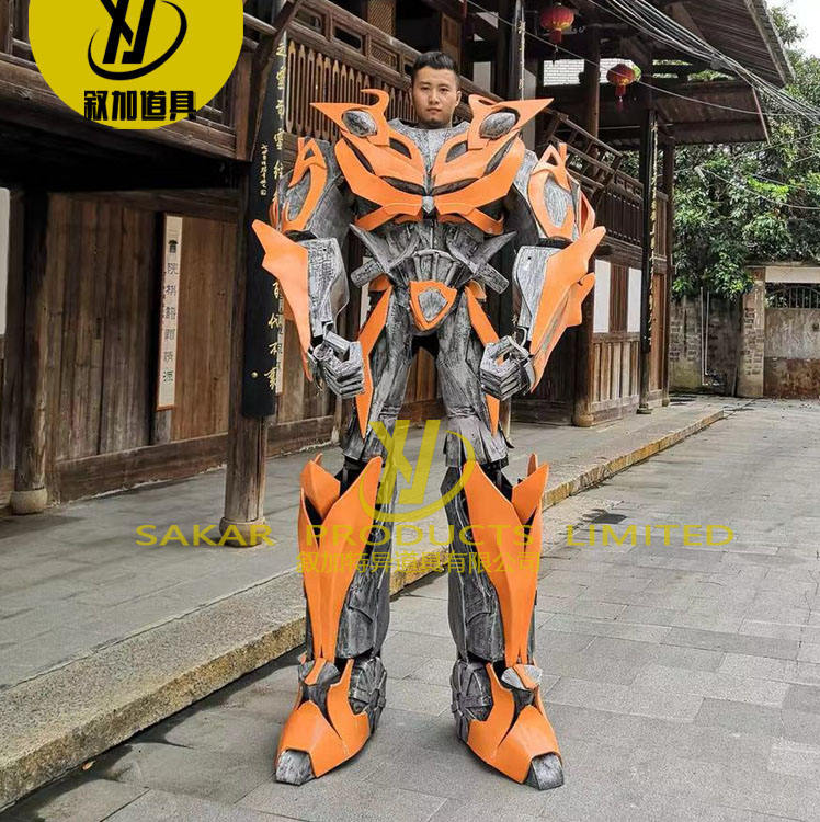 Super Size Stilts Amazing Carnival Party Human Size LED Event Transform er Bumble bee Robot Cosplay Costume Suits