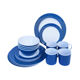 New Design BDA free 16Pcs Round Shape Melamine Ware Dinner Set
