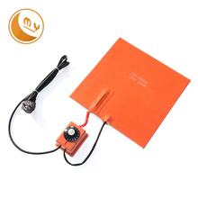 high quality silicone rubber heater 230v 280v heating blanket with knob controller