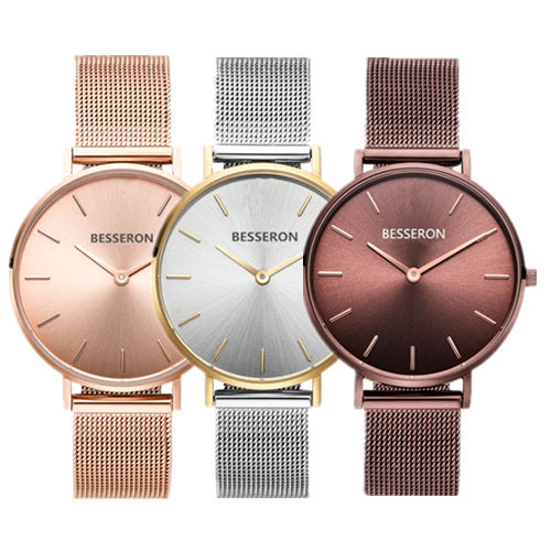 Custom 커피 runray face luxury mesh watches, 나름 logo 암 숙 녀 손목 watches