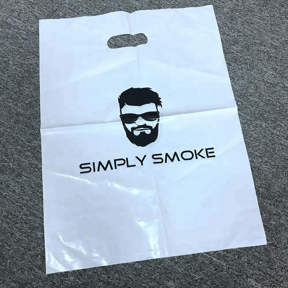 Custom Logo Design Printed LDPE Die cut handle Plastic Bag