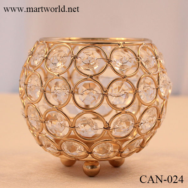 crystal ball tea light candle holders wedding table centerpiece for wedding decoration