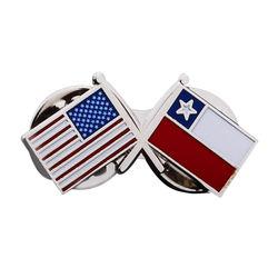 Custom Name plate National Flag Metal Soft Hard Enamel Lapel Pins Badges Manufacturer