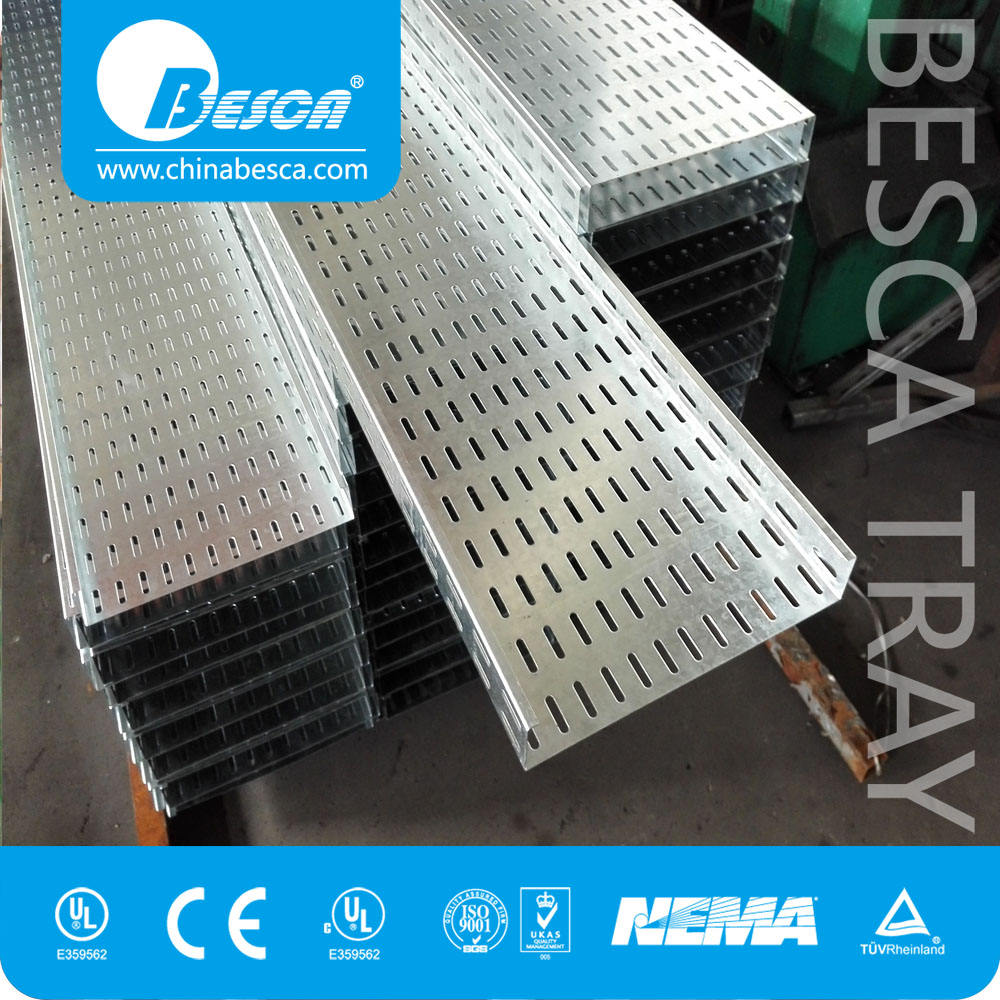 Stainless Steel Hot dip Galvanised FRP Aluminum Ventilated Cable Tray