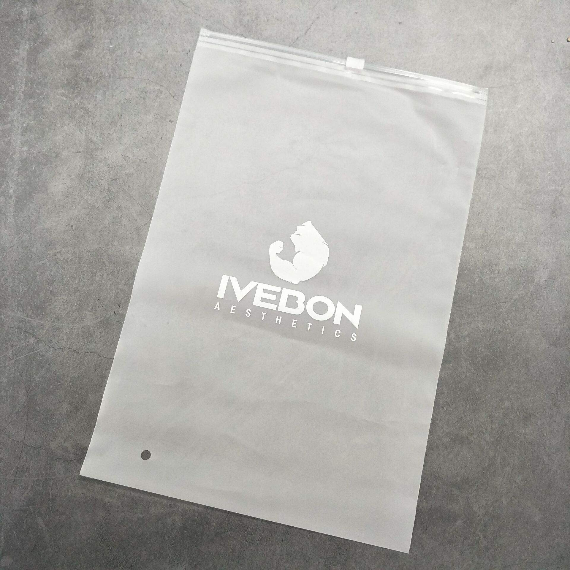 PVC/EVA/PP custom bag ziplock Frosted Plastic Zipper Apparel Clothing Packaging Bag
