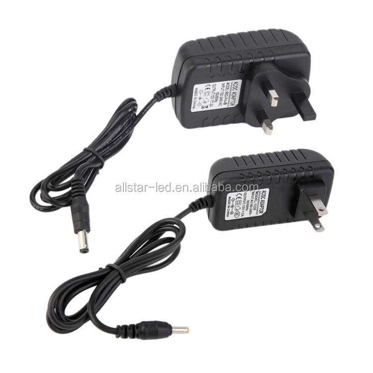 AC/DC Adapter MỸ Cắm/UK Cắm DC AC Adapter Power Supply 12 V 2A Biến cho 5050 5630 3528 LED Strip Trong kho