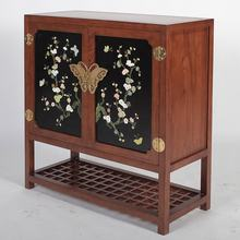 HUALLING real wood wooden shoe cabinet design indonesian mahogany chinese antique furniture