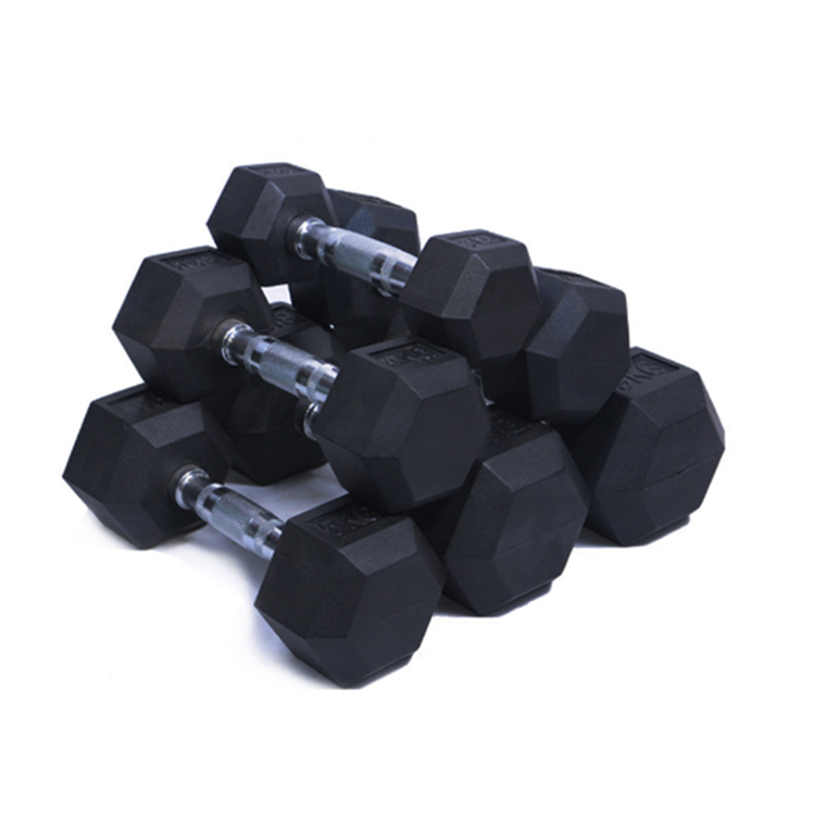 Hex Rubber Cost Iron Dumbbell For Weight Lifting