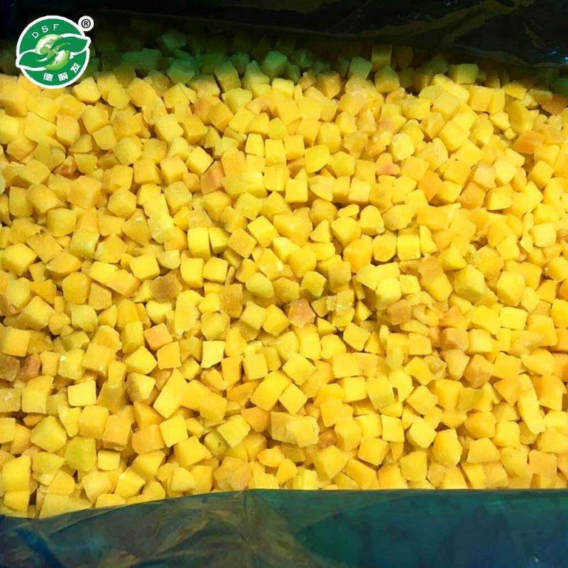 bulk IQF frozen yellow peach dice hot selling