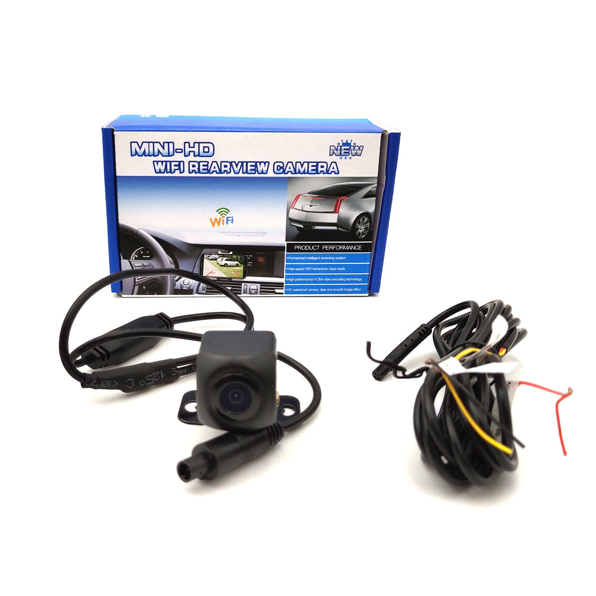 Mini WiFi Car Rear View Parking Reverse Camera Safe For iOS/Android With Night Vision