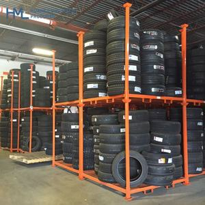 (High) 저 (quality 강 movable 조절 창 고 folding 예비 powder coating metal pallet storage 타이어 랙 system