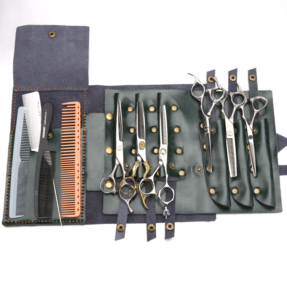 Scissors Hand Bag Shear Case Genuine Leather Hair Cutting Scissors Pouch Rolling Bags
