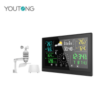 Full Function Weather Forecast,Digital Thermometer,Wind Speed Wireless Weather Station