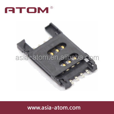 Hot sale 2.54mm pitch 8P sim card connector micro sim card socket