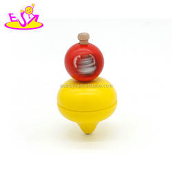New hottest funny children wooden spinning top with string W01A308