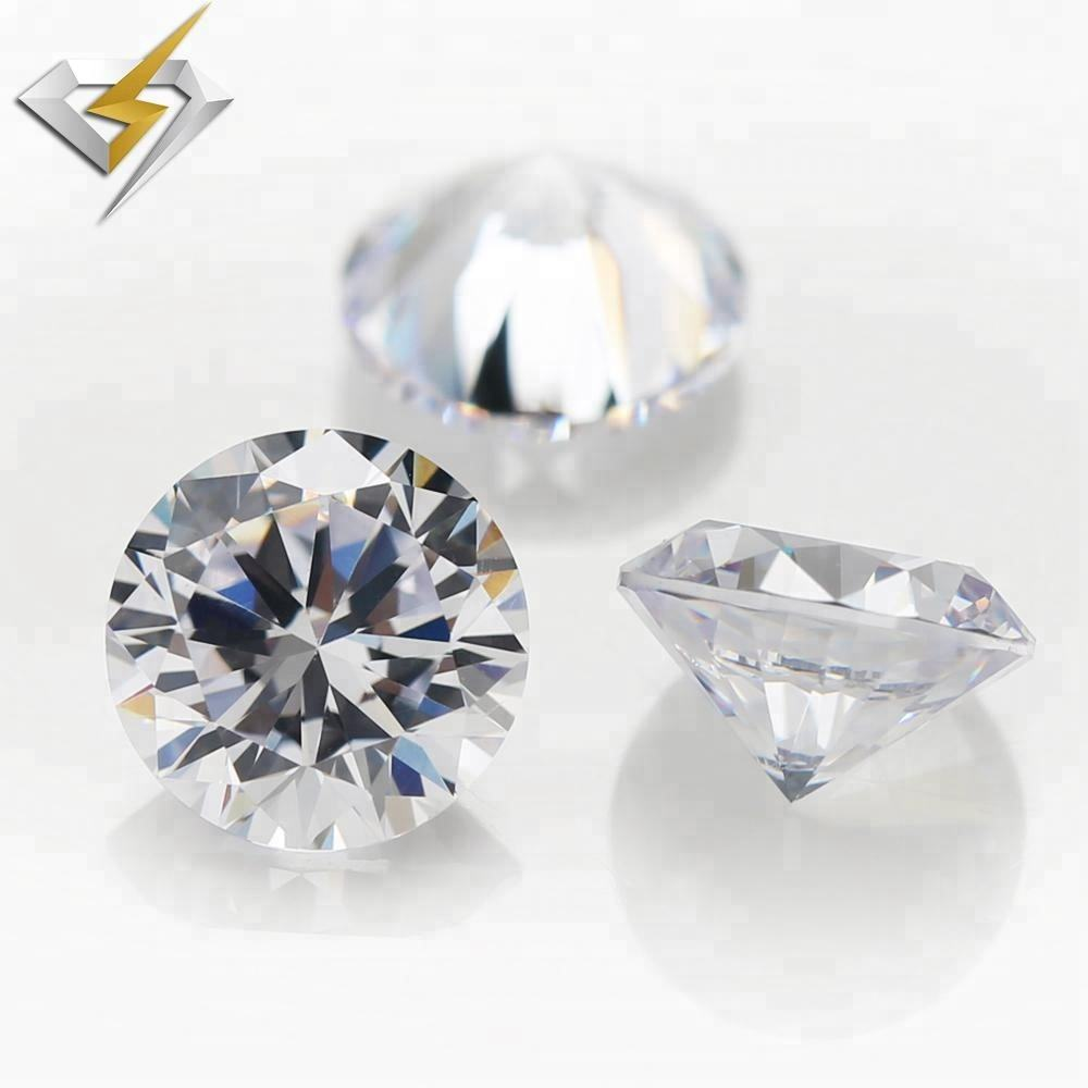 Chinese Machine Cut Loose Round Shape Cubic Zirconia