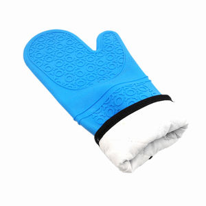 Benhaida BBQ Potholder Cooking Gloves Cotton Lining Heat Resistant Silicone Oven Mitt