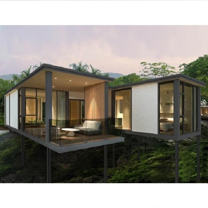 High end real estate ready made modular prefab homes
