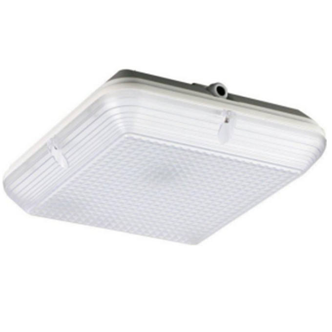 emergency and sensor LED Carpark Light Fitting 20W Square LED Bulkhead Light ik10