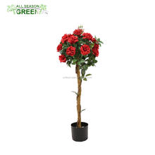 ASG 4 FEET RED ROSE FLOWER BONSAI PLANT