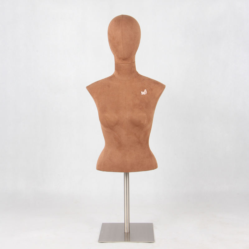 fabric covered big chest form female mannequin for underwear