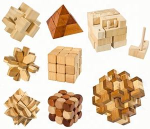 Intelligence natural 3D brain teaser wooden puzzle funny cube iq game iq toy wood pyramid puzzle 5cm for adults kids