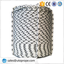 Polyester static rope 8mm Diameter polyester diamond braided rope for boat rope