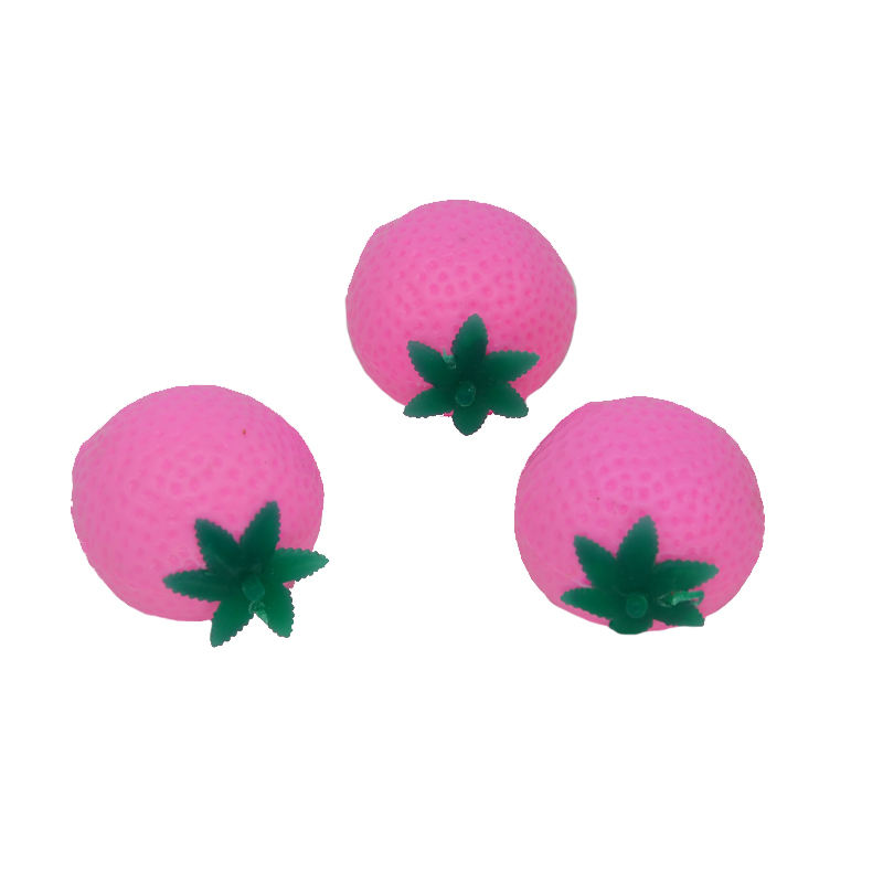 Factory spot tpr soft sticky water ball squeezing toys look like strawberry splat ball for kid