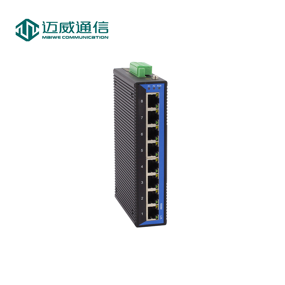 8 Maiwe casa inteligente-Port Gigabit Full Switch Ethernet Industrial para a Segurança