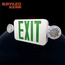 Emergency Light Double Side Combination Fire Requirement Cheap Acrylic Exit Sign For Notice