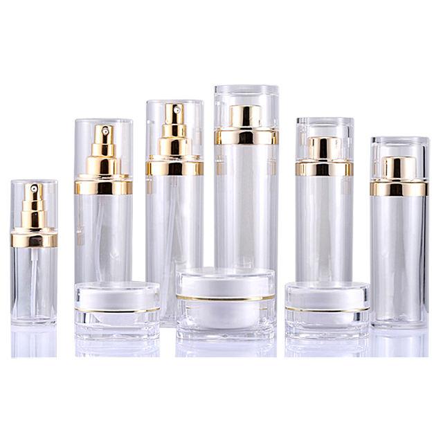 Fuyun Luxury Acrylic Shampoo Bottles and Jars Plastic Packaging Pet Spray Bottle for Cosmetics
