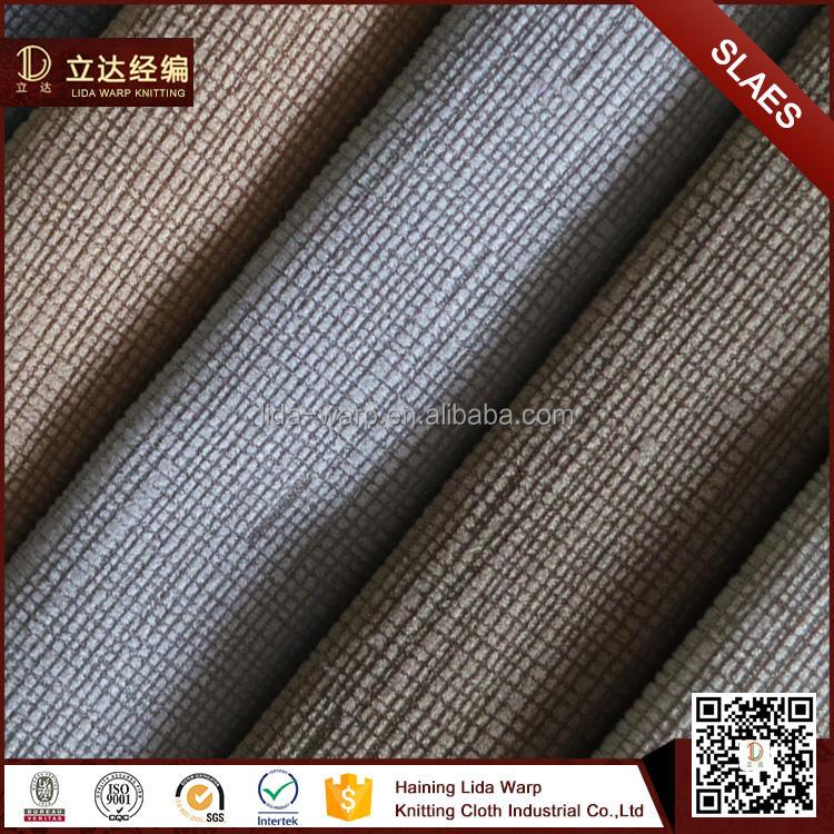 Ucuz Fiyat 100% Polyester Tc/Tek Yan Fırçalı Ile Burn Out Kanepe Kumaş
