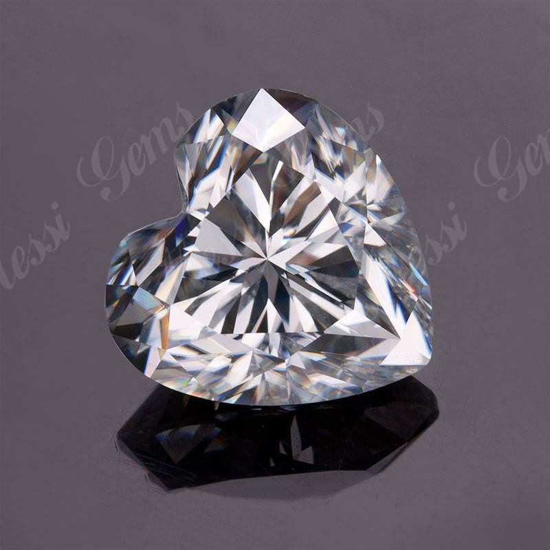 Factory loose brilliant cut heart shape 1 carat moissanite price