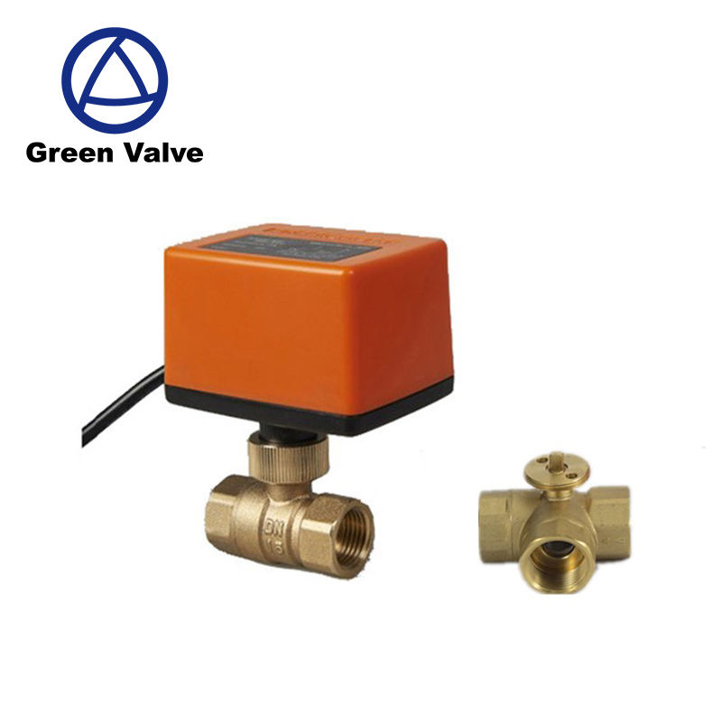 "Gutentop 2 way and 3 way 1/2"" electric DC motor ball valve with mini actuator 5v 12v 24v 220v"