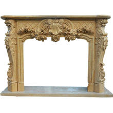 Natural Marble Fireplace Mantel surround